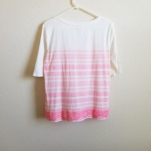 J. Crew Factory Tops - J. Crew Factory Printed Embroidered Striped Top M